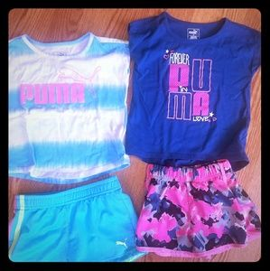 Toddler girls puma outfits